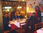 Spyros Peter Goudas having dinner with the Colombian Embassador