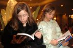 Evi Lioutis and Christina Plahouras reading The Immigrant